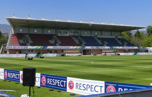 Das Kleinstadion in Nyon ist bereit für die Endrunde der UEFA Youth League.