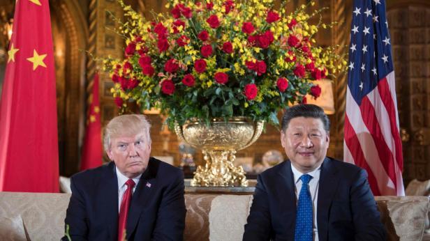 Trump und Xi in Mar-a-Lago am 6. April