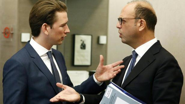 Foto des Außenministeriums: Kurz mit italienischem Amtskollegen Angelino Alfano