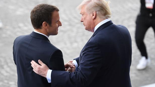 Trump hält große Stücke von Macron – und vor allem von sich selbst