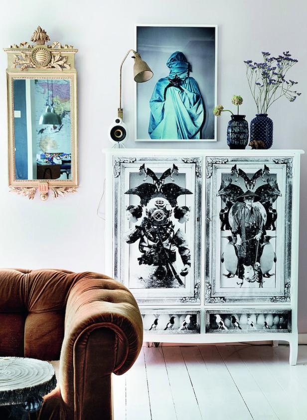 Alte Möbelstücke verschönert Jenny Brandt am liebsten selbst.