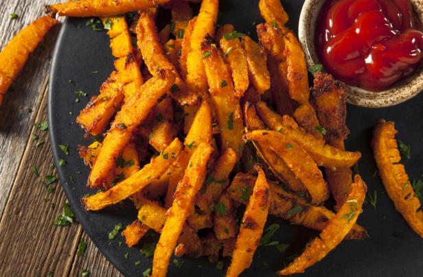Homemade Organic Pumpkin French Fries