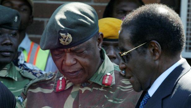 Chiwenga und Mugabe 2008.