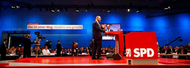 Social Democratic Party (SPD) leader Martin Schulz