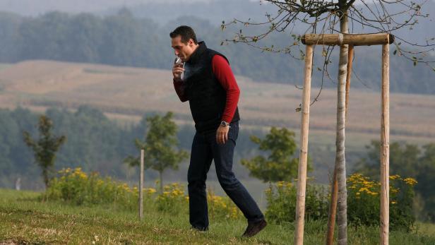'Stolzer Raucher: Heinz Christian Strache