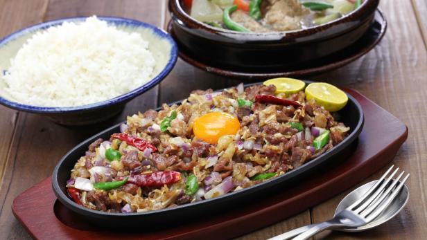 Sisig and sinigang, filipino cuisine