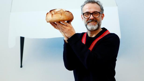Michelin-starred chef Massimo Bottura poses at Ref