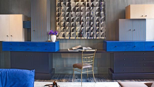 Wohnen mit Kunst: Wearstler stimmt Farben und Texturen auf die Sammlung des Klienten ab.