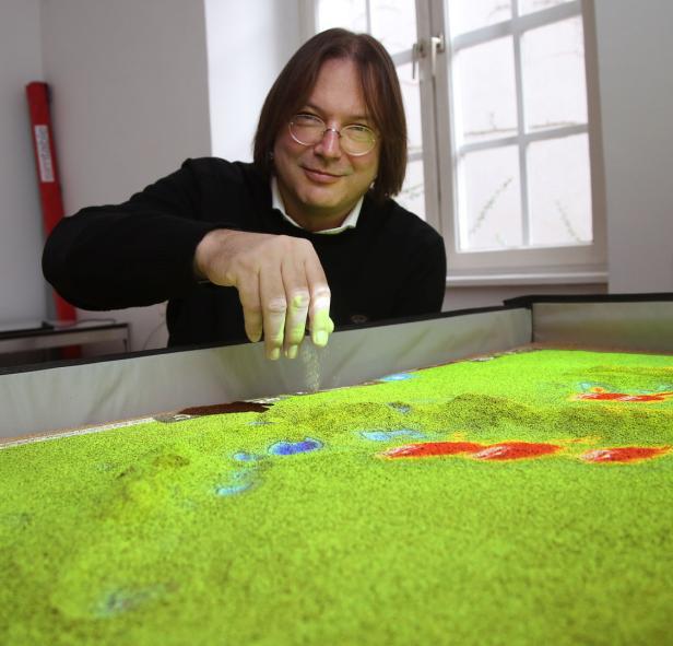 Die Landschaft kann modelliert, Auswirkungen sofort berechnet werden.