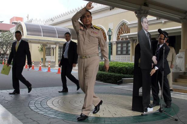 Thailand's Prime Minster Prayuth Chan-ocha speaks