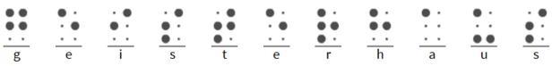 """Geisterhaus in Braille-SchriftBuchcover """"House of Ghosts"""""""