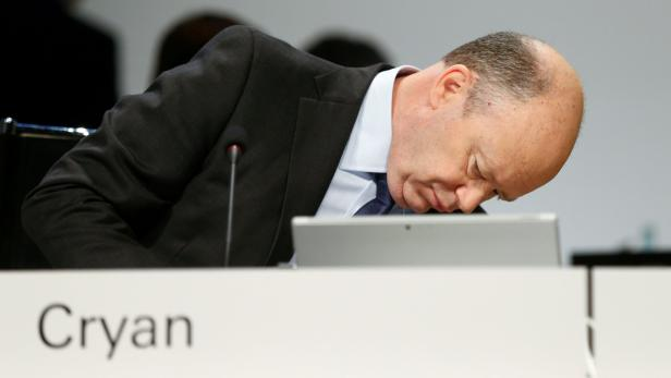 FILE PHOTO: Deutsche Bank CEO Cryan attends the ba