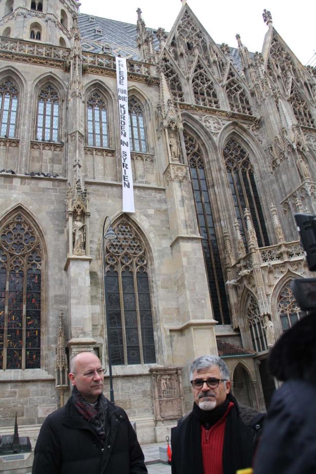 Friedensaktion für Kurden, Stephansdom Wien