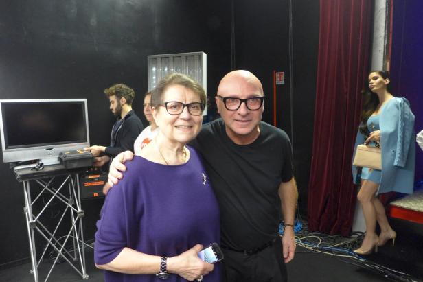 Brigitte R. Winkler mit Domenico Dolce
