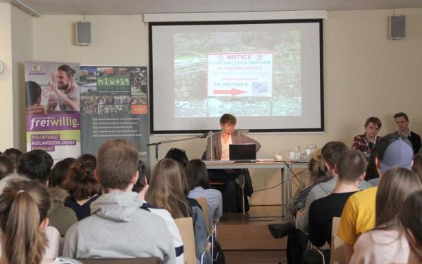 HLW 19 Straßergasse, Kambodscha-Schulpartnerschaft, Vortrag Auslandsdienst