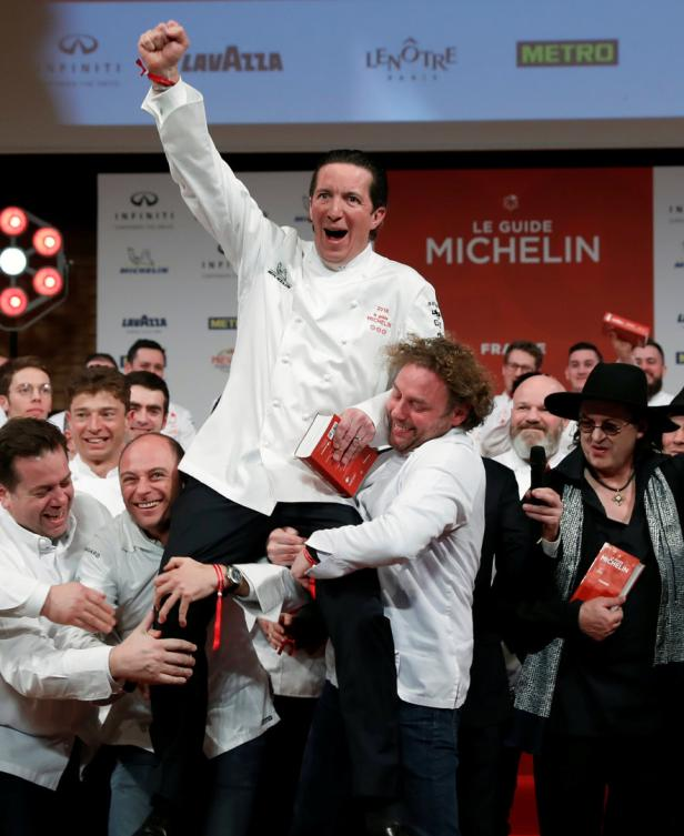 French chefs celebrate with Christophe Bacquie who
