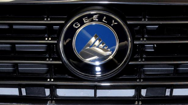 FILE PHOTO: Geely logo is shown at the Chinese aut