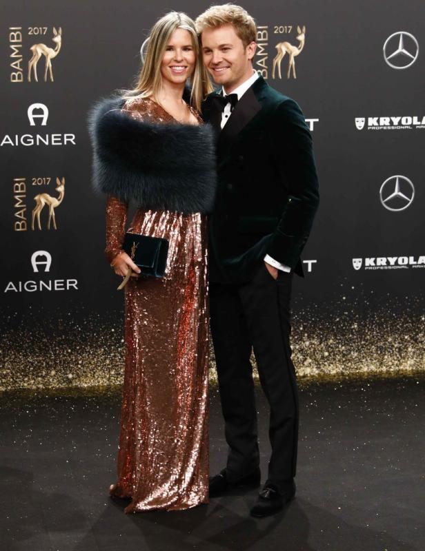 Former Formula One driver Rosberg and his wife Sib
