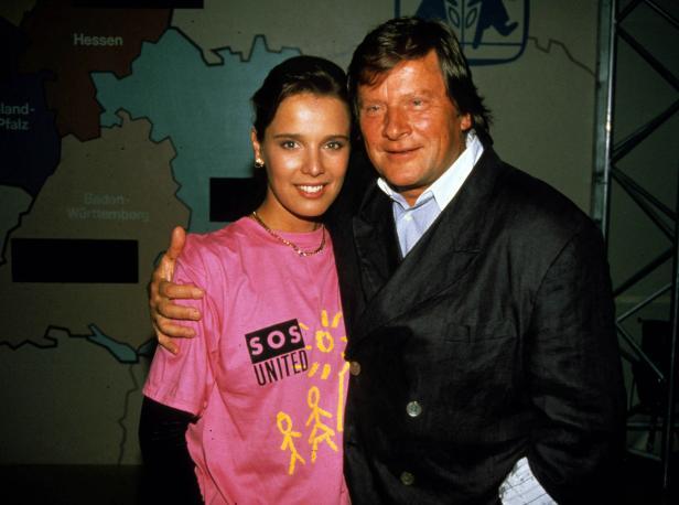 Nosbusch mit ihrem ersten Mann, Georg Bossert