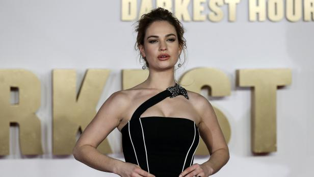 Actor Lily James arrives at the UK premiere of Dar