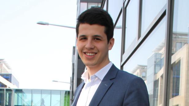 Sergiu Scolobiuc, Rumänen in Wien, Student…