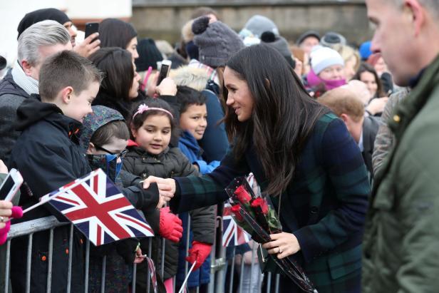 Meghan Markle, the fiancee of Britain's Prince Har