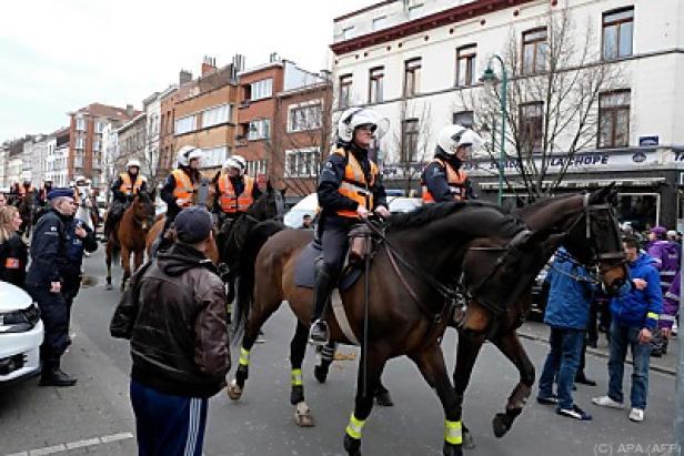 Berittene Polizei hatte viel zu tun