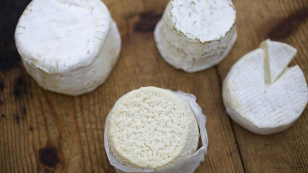 Wheels of French cheese