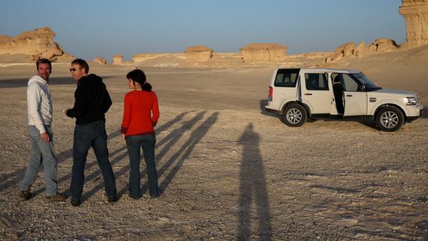 Rudl wartet in der Wüste - auf die Sonne