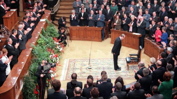 Angelobung von Thomas Klestil im Jahr 1998