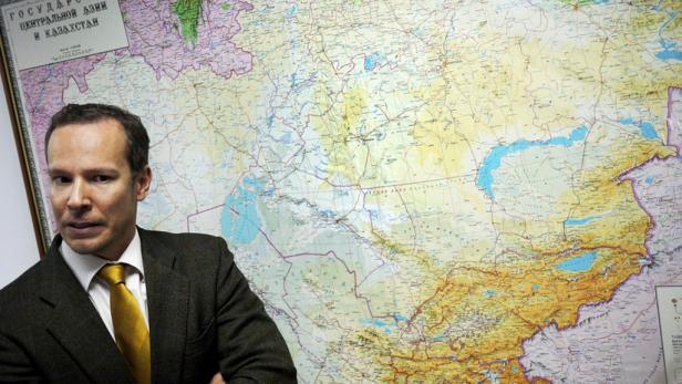 In Müllers Büro: Michael Müller, der neue Wirtschaftsdelegierte in Almaty
