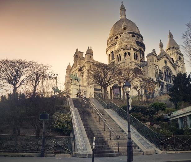 Paris, Montmartre, Basilique du Sacré-Coeur, Winte…