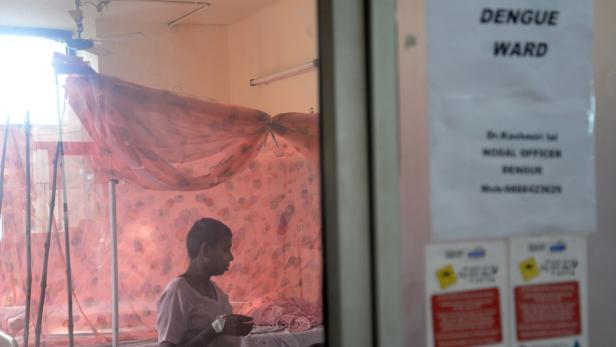 Dengue-Station in einem Spital in Indien