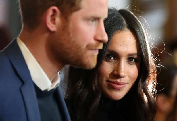Britain's Prince Harry and his fiancee Meghan Mark