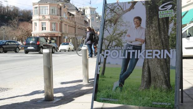 """Zumindest auf den Wahlplakaten """"keine Politikerin"""" mehr: Astrid Rössler"""