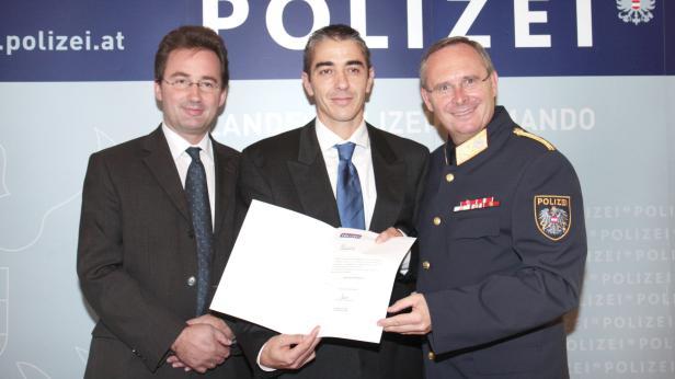 Im Jahr 2009: Pürstl, EGS-Chef Preiszler, Mahrer