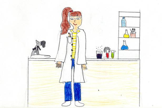Kinder zeichnen Wissenschaftler deutlich seltener weiblich.