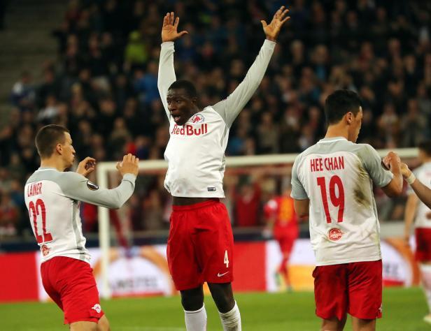 FUSSBALL/EUROPA LEAGUE/VIERTELFINALE: RED BULL SALZBURG - LAZIO ROM