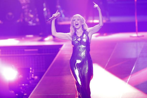 Australian singer Minogue performs during the 2018 Echo Music Award ceremony in Berlin