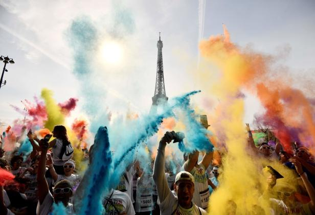 TOPSHOT-FRANCE-COLOR RUN-SPORT-ENTERTAINMENT