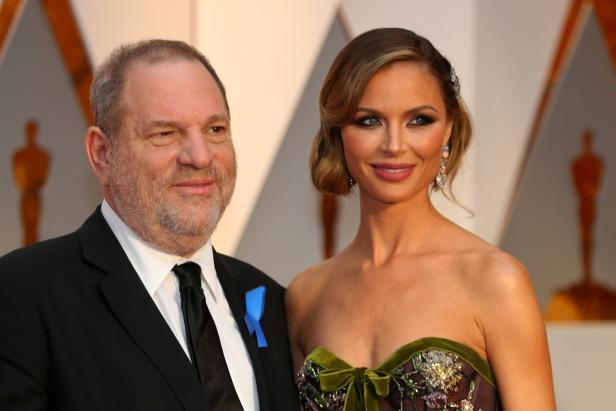 FILE PHOTO: Harvey Weinstein and wife Georgina Chapman arrive at the 89th Academy Awards in Hollywood
