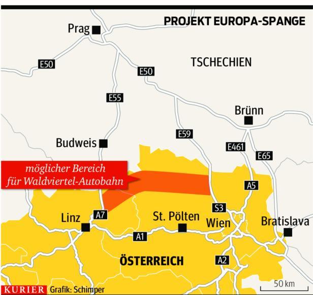 Die geplante Europa-Spange