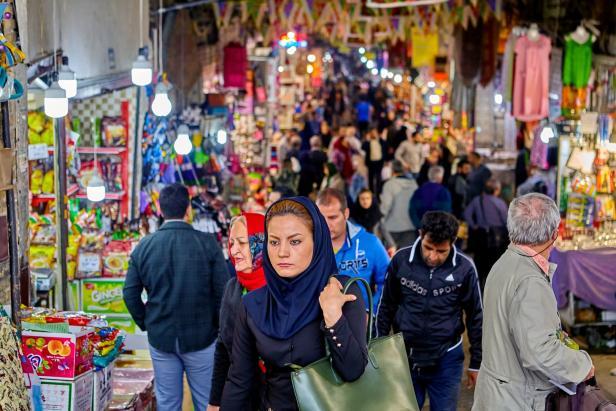 Iranian woman in a big bazaar, Tehran, Iran.