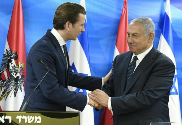 BUNDESKANZLER KURZ IN ISRAEL: TREFFEN MIT PREMIER NETANYAHU