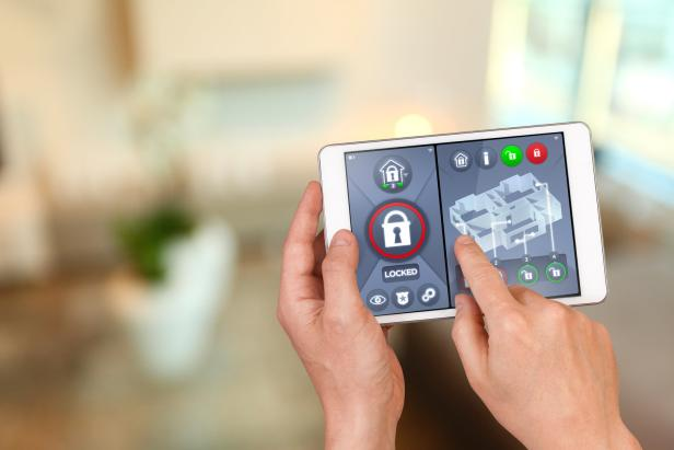 Smart home automation: locking house doors with security remote control