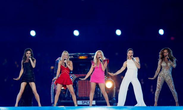 FILE PHOTO:The Spice Girls perform during the closing ceremony of the London 2012 Olympic Games