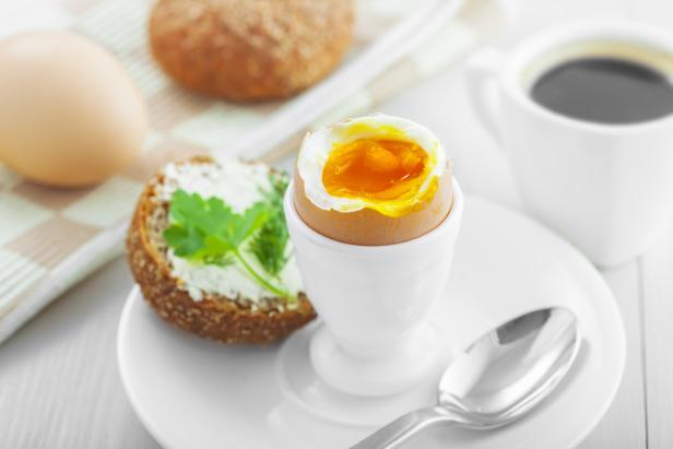 Perfect soft boiled egg for breakfast
