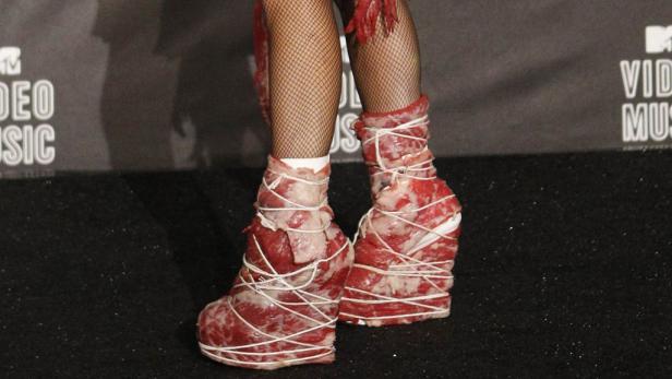 Fleischbeschau: Lady Gaga bei den MTV Video Awards, bei denen sie acht Preise abräumte.