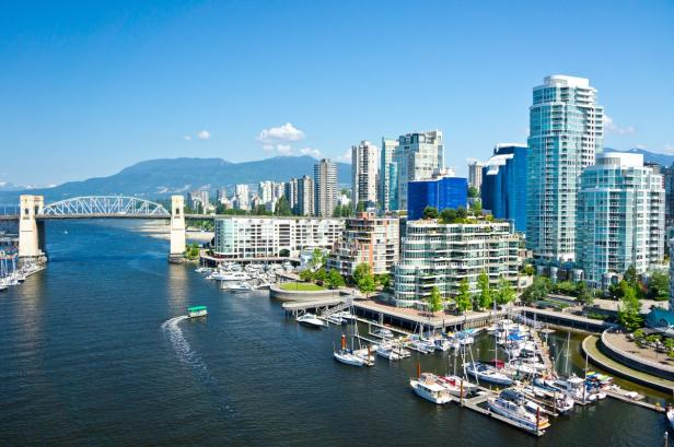 Beautiful view of Vancouver, British Columbia, Can…
