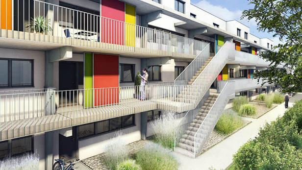 Heller Park: Im Herbst können die 233 geförderten Wohnungen im 10. Bezirk bezogen werden. Die Vergabe läuft gerade.
